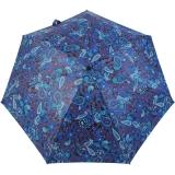 Mini Taschenschirm Damen Joy Heart klein und leicht - Paisley blau