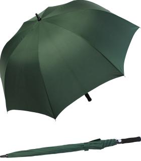 Großer Regenschirm Golfschirm XXL mit Automatik - 123 cm groß - grün