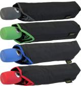 Bicolor Automatik Taschenschirm schwarz mit farbigem...