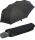 Bicolor Automatik Taschenschirm schwarz mit farbigem Griff und Einfassband - grau