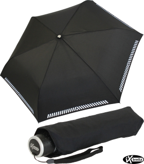 iX-brella Mini ultra light Taschenschirm Reflex Sicherheitsschirm - extra leicht - schwarz