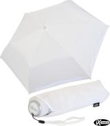 iX-brella Mini ultra light Taschenschirm Reflex Sicherheitsschirm - extra leicht - weiß