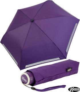 iX-brella Mini Kinderschirm Safety Reflex extra leicht - berry