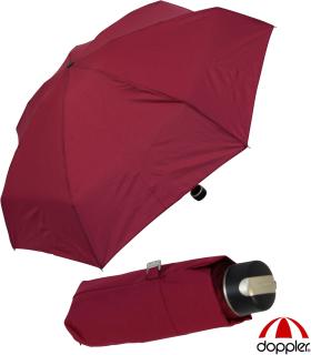 Doppler Mini XS Damen Taschenschirm klein und leicht - bordeaux