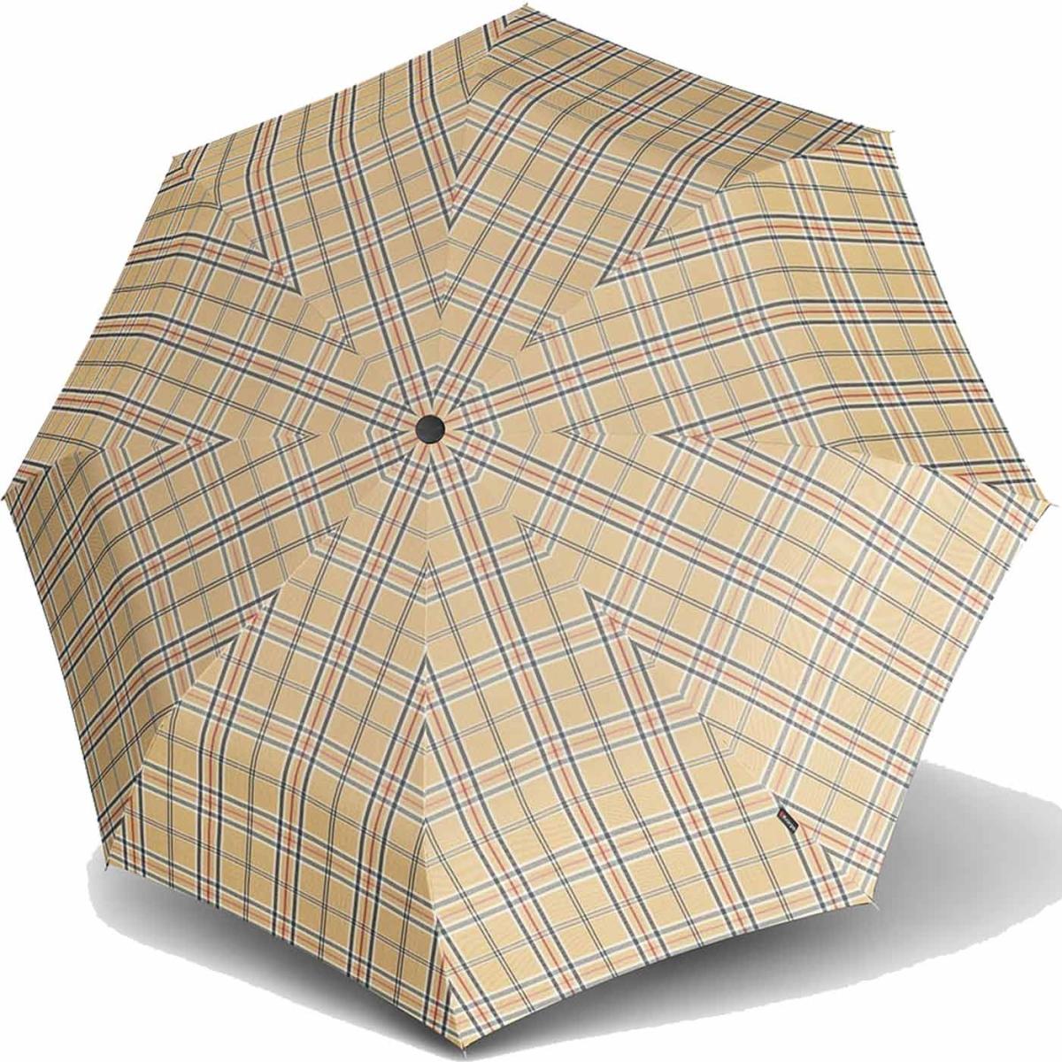 knirps regenschirm fiber t2 duomatic check karo beige 539 38 99 eur. Black Bedroom Furniture Sets. Home Design Ideas
