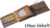 LandLeder 2 tlg Scheinbörse PINCH OF WAX RFID Schutz - braun
