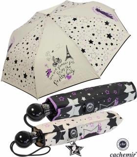 Cachemir Regenschirm Taschenschirm sturmsicher Auf-Automatik Chic Dog - Hund