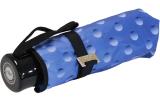 Cachemir Regenschirm Taschenschirm mini stabil sturmsicher Dots - blau