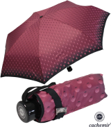 Cachemir Regenschirm Taschenschirm mini stabil sturmsicher Dots - bordeaux