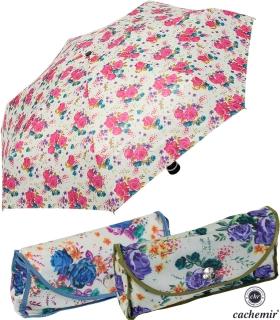 Cachemir Regenschirm Taschenschirm mini stabil sturmsicher Printed Flowers