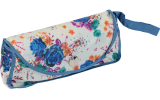 Cachemir Regenschirm Taschenschirm mini stabil sturmsicher Printed Flowers - blau