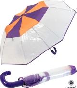 Cachemir Regenschirm Taschenschirm transparent mit...