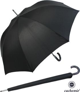 Cachemir Regenschirm Automatik Stockschirm Herren stabil schwarz mit Schutzhülle