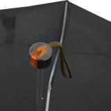 Cachemir Regenschirm Taschenschirm Handöffner mini schwarz