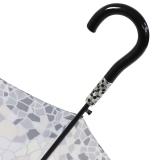 Gaudi Regenschirm Automatik Stockschirm Damen groß stabil sturmsicher Mosaik - grau