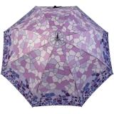 Gaudi Regenschirm Automatik Stockschirm Damen groß stabil sturmsicher Mosaik - lila