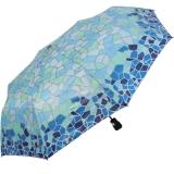 Gaudi Regenschirm Automatik Taschenschirm stabil sturmsicher mini Mosaik - blau-grün