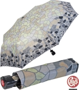 Gaudi Regenschirm Automatik Taschenschirm stabil sturmsicher mini Mosaik - grau