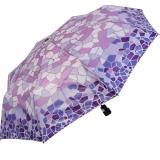Gaudi Regenschirm Automatik Taschenschirm stabil sturmsicher mini Mosaik - lila