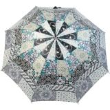 Gaudi Regenschirm Automatik Stockschirm Damen groß stabil sturmsicher Patchwork Muster - schwarz