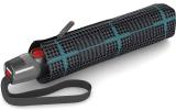 Knirps Taschenschirm T.200 Duomatic - stabil und sturmfest Sherlock Aqua