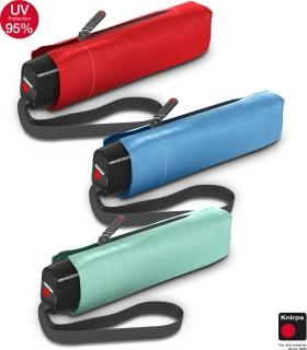 Knirps Super-Mini-Taschenschirm Slim TS.010 - klein und leicht - UV Protection Solids