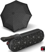 Knirps X1 Super-Mini-Taschenschirm im Etui - Lotus - black