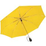 iX-brella stabiler Taschenschirm Mini Regenschirm mit Auf-Zu-Automatik - mid class neon gelb