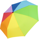 iX-brella stabiler Taschenschirm Mini Regenschirm mit Auf-Zu-Automatik - mid class Regenbogen
