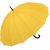 iX-brella long - hochwertiger Stockschirm 16-teilig mit Automatik sturmfest gelb