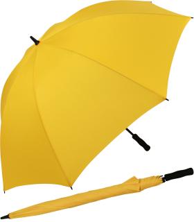 iX-brella Full-Fiber Golfschirm XXL 130cm leicht sturmfest mit Softgriff gelb