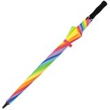 iX-brella Full-Fiber Golfschirm XXL 130cm leicht sturmfest mit Softgriff Regenbogen