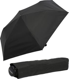 Doppler zero,99 extrem leichter Mini Damen Taschenschirm - simply black