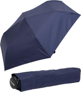 Doppler zero,99 extrem leichter Mini Damen Taschenschirm - deep blue