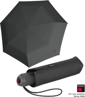 Knirps Mini Taschenschirm E.100 Auf-Zu-Automatik - dark grey
