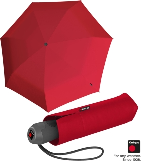 Knirps Mini Taschenschirm E.100 Auf-Zu-Automatik - red
