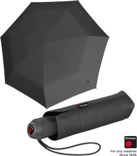 Knirps Mini Taschenschirm E.100 Auf-Zu Automatik mit farbigem Griff - dark grey