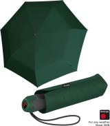 Knirps Mini Taschenschirm E.100 Auf-Zu Automatik mit farbigem Griff - dark green