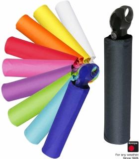 mit Softgriff Eleganter Automatik-Regenschirm schwarz-pink Farbe