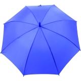Automatik Stockschirm blau mit farblich passendem Griff