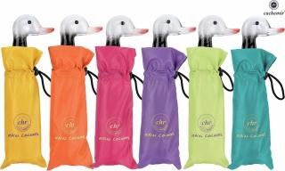 Cachemir Solid Rain Colors Mini Taschenschirm mit Entengriff - Handöffner