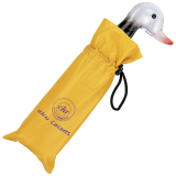 Cachemir Solid Rain Colors Mini Taschenschirm mit Entengriff - Handöffner - gelb