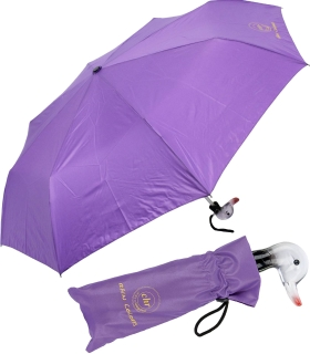 Cachemir Solid Rain Colors Mini Taschenschirm mit Entengriff - Handöffner - lila