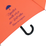 """Regenschirm Set Stockschirm und Taschenschirm mit Automatik """"Eigentlich wollte ich ..."""" - orange"""