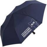 """Regenschirm-Set Stockschirm und Taschenschirm mit Automatik """"Katzen haben Personal..."""" navy-blau navy-blau"""