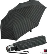 Knirps Regenschirm Taschenschirm Large Duomatic Nimbus black