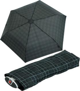 Knirps Taschenschirm BLADE men´s prints schwarz - check