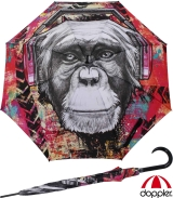 Doppler Modern Art Stockschirm - Monkey