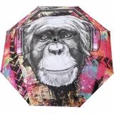 Doppler Modern Art Taschenschirm mit Auf-Zu-Automatik - Monkey