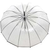 Regenschirm 14-teiliger Stockschirm transparent Automatik